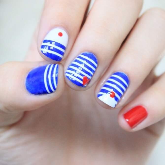Navy Nail Art Weblogit